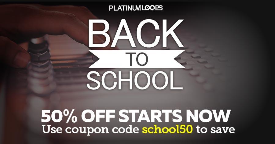 Get Half Price Loops and Sampels in the 'Back to School' Sale