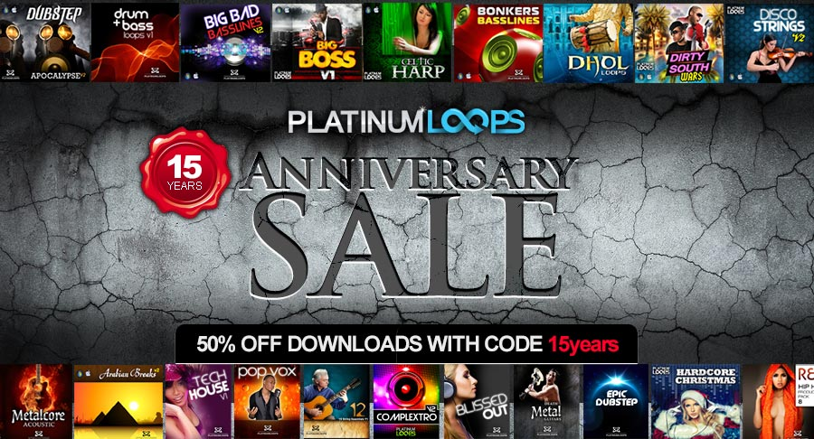 Loops and Samples in the Anniversary Sale