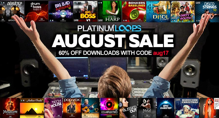 Get Your Loops and Samples with 60% Off this August