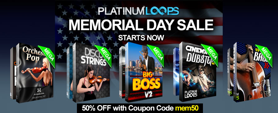 Download Loops and Samples in the Memorial Day Sale